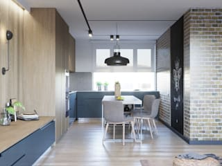 Industrial style kitchen by Suleimanova interior Industrial