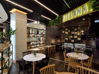 Fotografia wnętrz restauracji Zielona: styl , w kategorii  zaprojektowany przez Archilens Łukasz Nowosadzki