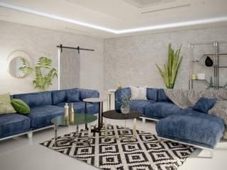 Living room by WOJTYCZKA Pracownia Projektowa,