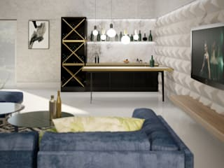 ห้องนั่งเล่น โดย WOJTYCZKA Pracownia Projektowa, โมเดิร์น