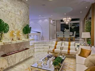 现代客厅設計點子、靈感 & 圖片 根據 Designer de Interiores e Paisagista Iara Kílaris 現代風