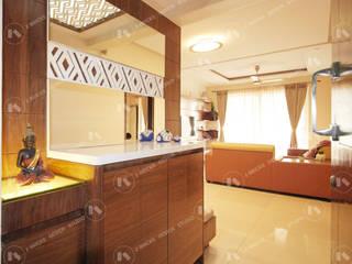 Apartment Interiors for Deepa and Prakash:  Corridor & hallway by 2 Bricks Design Studio