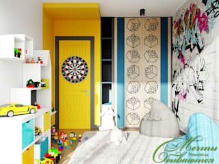 Chambre d'enfant minimaliste par Компания архитекторов Латышевых 'Мечты сбываются' Minimaliste