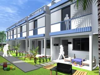 Condomínio de residências triplex por ARQ-PB Arquitetura e Construção Moderno