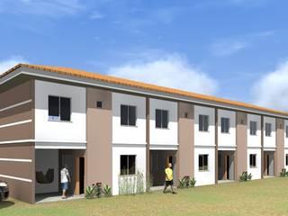 apartamentos com 2 pavimentos, em condomínio fechado, com área de lazer, com quiosque com churrasqueira.:   por ARQ-PB Arquitetura e Construção