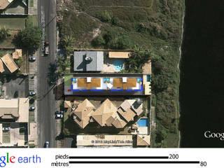 Projeto residencial, com estacionamentos privativos e subterrâneos e coberturas com vista para a linda praia do flamengo. por ARQ-PB Arquitetura e Construção
