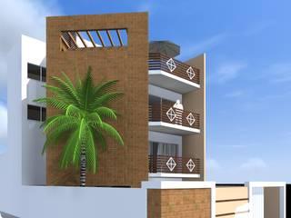 Projeto contemporâneo, triplex, e muito estiloso por ARQ-PB Arquitetura e Construção