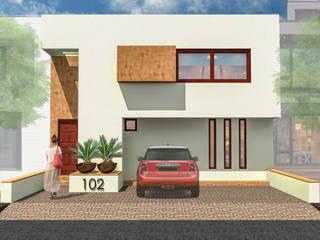 Anteproyecto - Casa JM de Rios Serna Arquitectos Minimalista