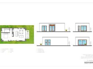 Anteproyecto - Bungalos La Mora: Bungalows de estilo  por Rios Serna Arquitectos