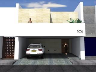 Anteproyecto - Casa Campo Azul Casas minimalistas de Rios Serna Arquitectos Minimalista