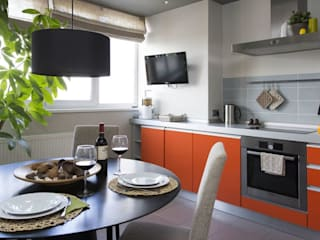 Irina Yakushina Minimalist kitchen MDF Orange