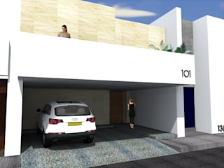 Anteproyecto - Casa Campo Azul de Rios Serna Arquitectos Minimalista