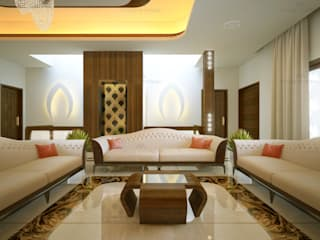 Monnaie Interiors Pvt Ltd Living room Wood Wood effect