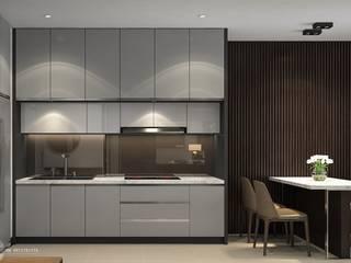 Thiết kế thi công nội thất chung cư Hà Đô HCM:  Nhà bếp by Lio Decor