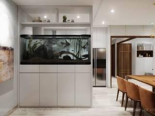 Thiết kế nội thất chung cư Kingston Phòng ăn phong cách hiện đại bởi Lio Decor Hiện đại