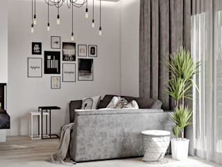 Living room by Artlike, Scandinavian