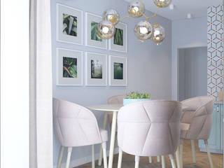 Дизайн кухни двухкомнатной квартиры 60,3 кв.м. от Татьяна Черкашина   My New Interior Эклектичный