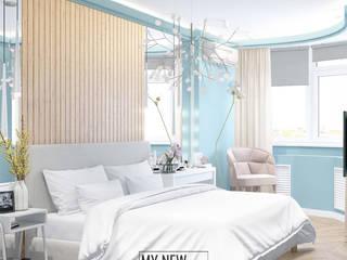 Дизайн спальни двухкомнатной квартиры 60,3 кв.м. Спальня в скандинавском стиле от Татьяна Черкашина   My New Interior Скандинавский