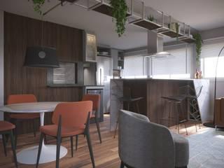 Salas de jantar  por Marcelo Minuscoli - Projetos Personalizados, Moderno