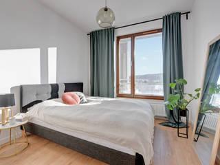 Nowoczesne mieszkanie w Gdańsku Nowoczesna sypialnia od Pro-Plan-Foto Nowoczesny