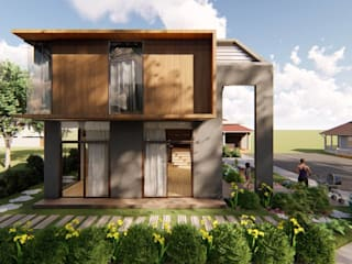 Structura Architects Single family home Wood effect