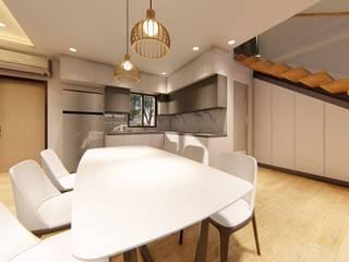 Structura Architects Small kitchens White