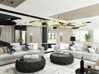 Living room by ARTDESIGN architektura wnętrz,