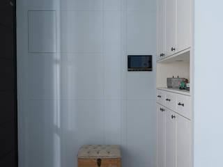 英式藍調 斯堪的納維亞風格的走廊,走廊和樓梯 根據 知域設計 北歐風