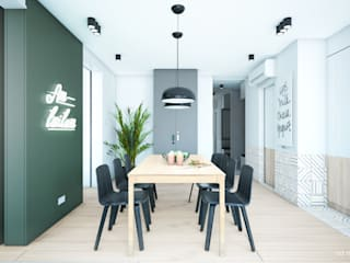NA NO WO ARCHITEKCI Minimalist dining room
