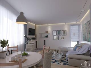 Salas de estar escandinavas por GCE Building Solution s.r.o. Escandinavo