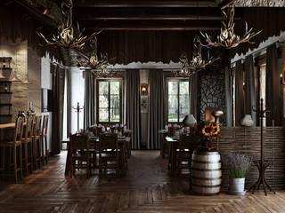 mlynchyk interiors Restaurantes Madera