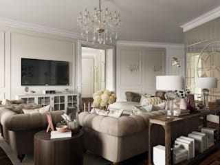mlynchyk interiors Living room Beige
