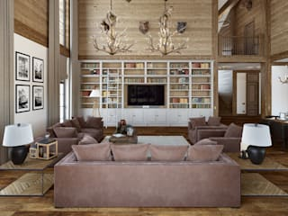 mlynchyk interiors Living room Wood