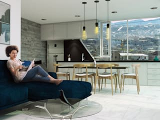 Living room by ÖQ Arquitectos, Modern