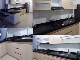 MUEBLES DE COCINAS : Cocinas integrales de estilo  por Taller de carpinteria nuevo milenio,