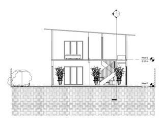 Diseño y presupuesto casa La herradura - Coquimbo 96 m2: Casas de estilo  por Constructora Alonso Spa