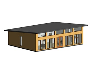 Diseño y presupuesto casa en Valle de Elqui: Casas de estilo  por Constructora Alonso Spa