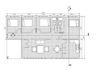 Diseño y presupuesto casa  Coquimbo 116 m2: Casas de estilo  por Constructora Alonso Spa