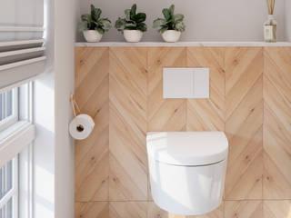 Bathroom visualisation Ванная комната в стиле минимализм от LazyPanda Studio Минимализм