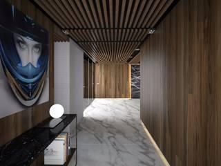 Proyecto Departamento Pasillos, vestíbulos y escaleras modernos de FM ARQUITECTOS Moderno