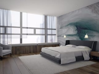 Proyecto Departamento Dormitorios modernos de FM ARQUITECTOS Moderno