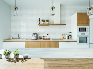 Cocina nórdica en Toledo Cocinas de estilo moderno de OOIIO Arquitectura Moderno Madera Acabado en madera