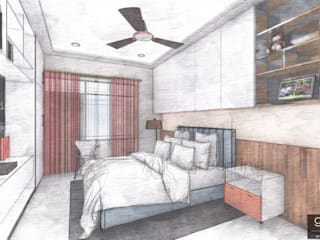 Conceptual Presentation for Home interior design: modern  by greenline architects,Modern