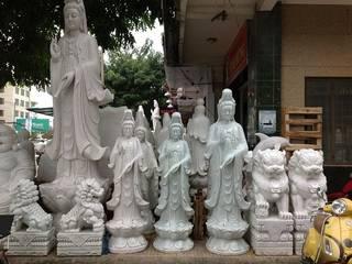 Báo giá tượng Quan Âm Bồ Tát bằng đá đứng đài sen theo kích thước bởi daninhbinh