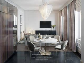 Современная классика в светлых тонах в интерьере квартиры: Кухни в . Автор – Архитектурное бюро «Парижские интерьеры»