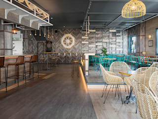 餐廳 by MisterWils - Importadores de Mobiliario y departamento de Proyectos., 現代風