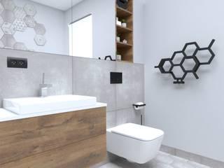 Łazienka w heksagony Nowoczesna łazienka od Moble. Nowoczesny