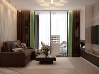 Livings de estilo moderno de Студия интерьерного дизайна happy.design Moderno