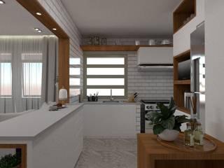 APARTAMENTO VILA OLÍMPIA: Cozinhas pequenas  por DALL' ANESE ARQUITETURA