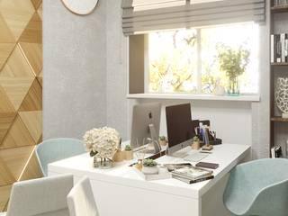 офис туристического агенства Офисные помещения в стиле минимализм от Дизайн-студия D'art Минимализм